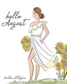 rose hill designs by heather stillufsen Hallo August, August Baby, Illustrations, Illustration Art, Neuer Monat, August Quotes, Positive Quotes For Women, Hello Weekend, Dibujo