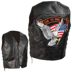 Boys' Cycling Vests - Standout Vests Exclusive Motorcycle Grain Leather Biker Vest2X Incomparable -- You can find more details by visiting the image link.