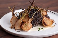 Black rice fritters with turnips and horseradish cream... kinda looks evil, doesn't it?