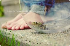 ribbit. love the little boy feet here, but imagine this with a little princess....