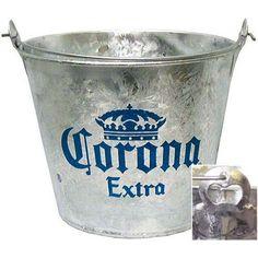 Balde Corona Oficial Bucket Cooler, Beer Bucket, Mexican Beer, Mexican Party, Beer Decorations, Tin Buckets, Corona Beer, Metal Tins, Beer Bottle