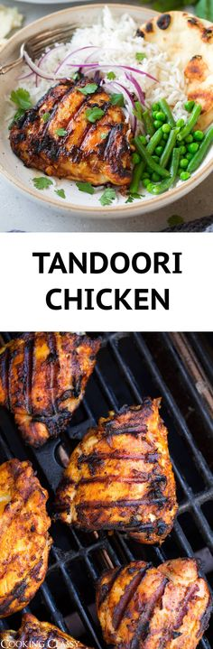 Tandoori Chicken - Just As Good As What You'd Get At An Indian Restaurant And It's So Easy To Make Chicken Thighs Are Soaked In A Creamy, Well Spiced, Yogurt Based Marinade And Then Cooked On The Grill To Get That Traditional Char. Indian Food Recipes, Asian Recipes, Vegetarian Recipes, Healthy Recipes, Easy Dinner Recipes, Appetizer Recipes, Summer Recipes, Tandori Chicken, Grilling Recipes