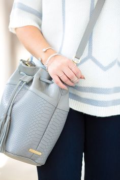 GiGi New York | Living In Color Print Fashion Blog | Slate Jenn Bucket Bag
