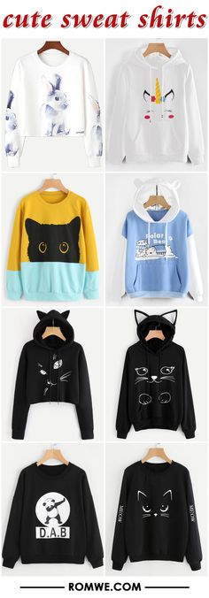 great price and good quality - cute sweatshirts from $12.99 from romwe.com