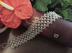 Tatting lace bracelet pdf pattern Eleanor