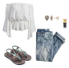 """Summer Nights"" by plaka-sandals on Polyvore featuring J.Crew and Yves Saint Laurent"