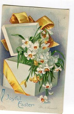 Easter Greetings Vintage Easter Postcard  by sharonfostervintage, $2.00