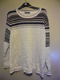 Atmosphere ladys cream & grey jumper size 18