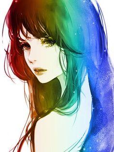 #anime #rainbow
