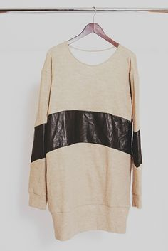 Diy - stitch stripes of soft butter leather into or onto your favourite clothes... x