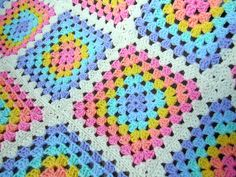 close up of rainbow blanket