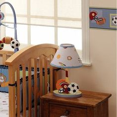 Childrens chandeliers sports light sport lamp football baseball bedtime originals super sports table lamp with shade sports nursery decorations mozeypictures Choice Image