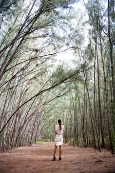 Lovely claude maus white dress in the forest