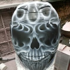 Custom Airbrushed Motorcycle Helmet by Airgraffix.com 044