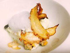 Bacalao confitado, crema de coco, berberechos, crujiente de pulpo y aire de plancton de Juan Carlos Callejas