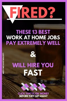 Got fired? Get hired fast with one of the 13 best work at home jobs available that will hire you fast. Work From Home Companies, Online Jobs From Home, Work From Home Opportunities, Work From Home Jobs, Ways To Earn Money, Earn Money From Home, Way To Make Money, Virtual Jobs, Career Options