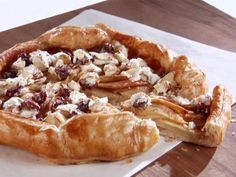Apple Galette with Goat Cheese, Sour Cherry, and Almond Topping.  I have made this at least 10 times.  It's delicious!