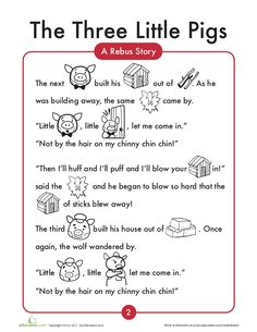 3 little-pigs English worksheets English Stories For Kids, English Worksheets For Kids, English Lessons For Kids, English Story, 1st Grade Worksheets, Preschool Worksheets, English Class, 3 Little Pigs Activities, Rhyming Activities