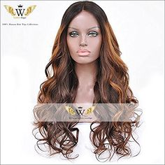 Goddess Wiggie Human Hair Ombre Color Lace Front Wigs with Baby Hair for Black Women 130 Density Ombre Color, Perm, Ombre Hair, Lace Front Wigs, Wig Hairstyles, Hair Lengths, Black Women, Hair Accessories, Wonder Woman