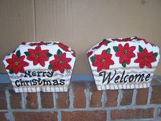 reversible Painted Stepping Stones, Painted Pavers, Paver Stones, Painted Rocks, Cement Pavers, Brick Paving, Concrete Edging, Brick Crafts, Stone Crafts