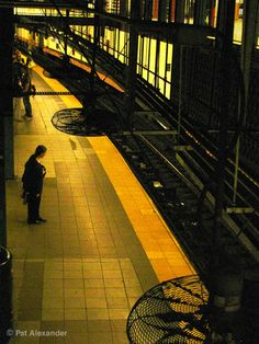 Shadowy 14 St Subway Station where I always want out fast.