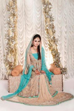 Blue is a gorgeous color to wear by the bride. I have looked for Blue indian wedding dress or blue wedding dresses, found some beautiful collection of dresses for indian bride. Indian wedding dress  can be also bought online.