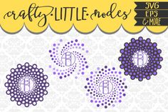 Circle Mandala Dotted Monogram Set SVG DXF AI EPS PNG (Transparent) from DesignBundles.net