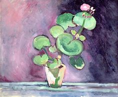 Geranium in a pot (oil on canvas), Henri Matisse
