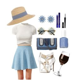 """Summer brunch"" by shylastylez on Polyvore featuring STELLA McCARTNEY, Hat Attack, Retrò, R.J. Graziano, Giuseppe Zanotti, Essie, By Terry and Lord & Berry"