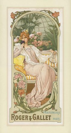 untitled lithograph ad for Roger & Gallet - Elisabeth Sonrel