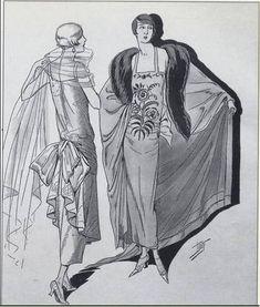 Deux robes du Soir de Paul Poiret.
