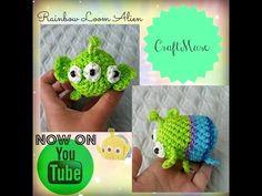 Rainbow Loom Loomigurumi Alien/Green Men (Inspired by TSUM TSUM) - YouTube
