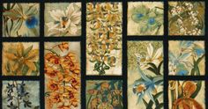 R Kaufman Oriental Traditions Orchids Panel Parchment - Cotton Crafts, Fabric Crafts, Block Of The Month, Robert Kaufman, Book Quilt, Quilt Kits, Fabric Panels, Fabric Design, Quilt Patterns