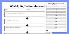 Image result for reflective journal template