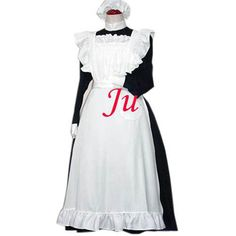 Free Shipping Sexy Black-White Sissy Maid Cotton Dress Uniform Cosplay Costume Tailor-made