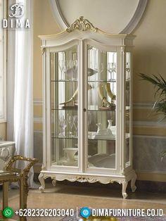 Best Seller Lemari Pajangan Kaca Mewah Ukiran Jepara New Luxurious Set Design TTJ-1452 China Cabinet, Storage, Interior, Furniture, Home Decor, Purse Storage, Decoration Home, Chinese Cabinet, Indoor