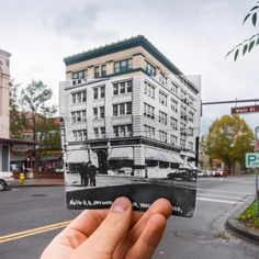 The Heritage Building then and now on Main Street Vancouver, WA