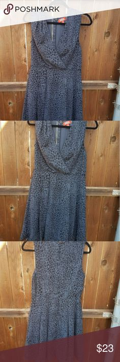 Kirna Zabete gray leopard print dress Kirna Zabete gray leopard print dress Kirna Zabete Dresses