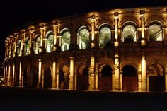 Les arènes de Nîmes. Built between the first and second century, the Arenes de Nimes is the best preserved from Gallo-Roman times.