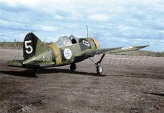 Brewster B-239 ---- BW-372 Finnish Air Force.  by Markos Danezis