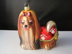 Yorkshire-Terrier-Yorkie-Glass-Christmas-Ornament