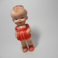 Vintage Ruth E Newton Doll Squeaky Rubber Toy
