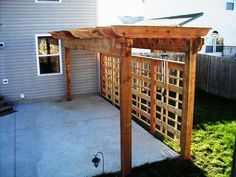 Arbor and trellis for privacy --- This is perfect for our rental! Exactly what I need!