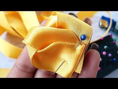 DIY Amazing And Very Creative Ribbon art, Diy Cool Ideas - YouTube Ribbon Embroidery Tutorial, Silk Ribbon Embroidery, Embroidery Kits, Ribbon Art, Diy Ribbon, Fabric Ribbon, Satin Flowers, Flowers In Hair, Flower Hair Clips