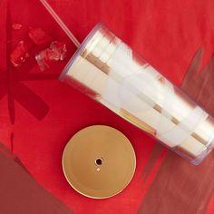 Cold Cup Tumbler - Gold & White Ribbon, 24 fl oz | Starbucks® Store