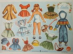 Paper dolls. My sister and i played with these for hours and hours. Our favorite thing to do.
