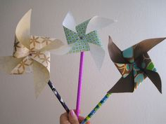 DIY pinwheels been looking for a tutorial for this. thanks annie!