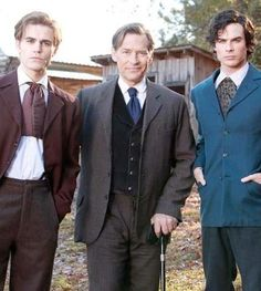 the salvatores 1864. Stefan, Father, and Damon