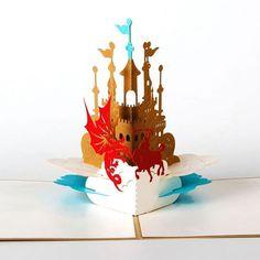 Castle 3d pop-up card