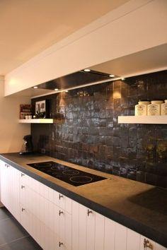 keuken on pinterest cement tiles tile and concrete countertops. Black Bedroom Furniture Sets. Home Design Ideas